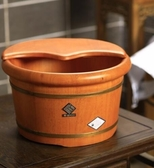 木桶泡腳木桶足浴桶泡腳桶家用足浴盆木盆實木洗腳木桶帶蓋叢林之家