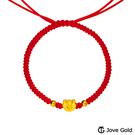 Jove Gold 漾金飾 福氣多多彌月黃金紅繩手鍊