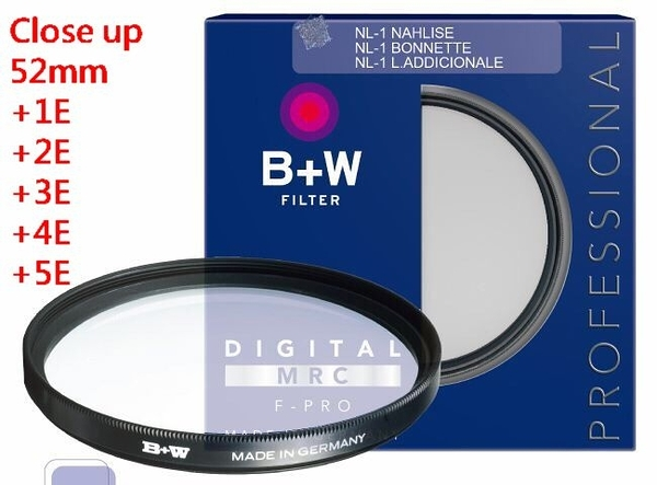 B+w F-Pro Close-up NL1+1E NL2+2E NL3+3E NL4+4E NL5+5E 近攝鏡 微距 52mm