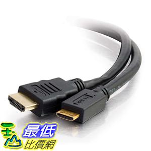 [106美國直購] 電纜線 C2G/Cables to Go 50619 High Speed HDMI to HDMI Mini Cable with Ethernet (6 Feet)