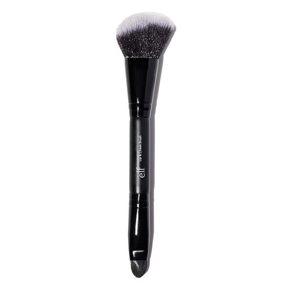 【愛來客 】美國彩妝ELF Dual-Ended Lip & Cheek 雙頭 修容刷+唇刷 化妝刷#84049