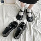 娃娃鞋 黑色學生軟妹蝴蝶結日系小皮鞋女新款圓頭可愛蘿莉鞋 - 古梵希