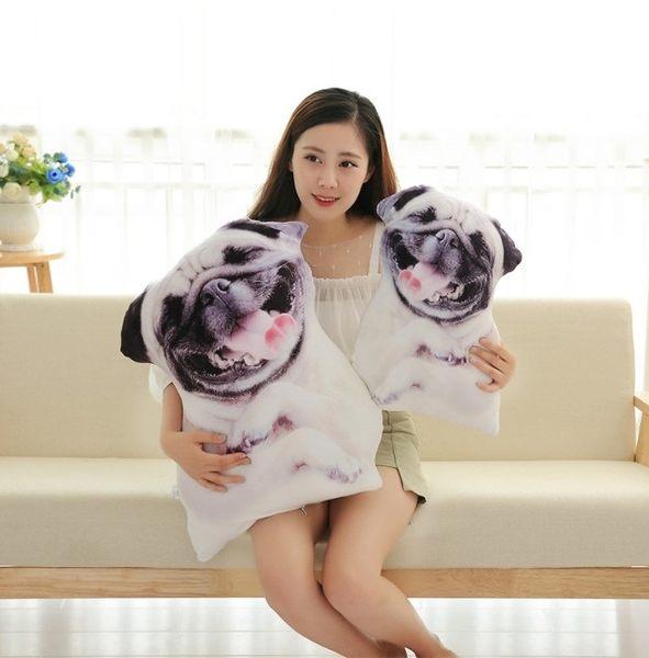 【搞笑抱枕】仿真3D超口愛沙皮狗 絨毛玩具 喜憨狗 生日禮物 45公分 【H00359】
