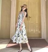 泰国旅游普吉岛海边度假沙滩裙巴厘岛吊带长裙菠萝裙子露背连衣裙『艾麗花園』