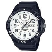 【CASIO】簡潔實用潛水風格系列電子錶-白面(MRW-210H-7A)