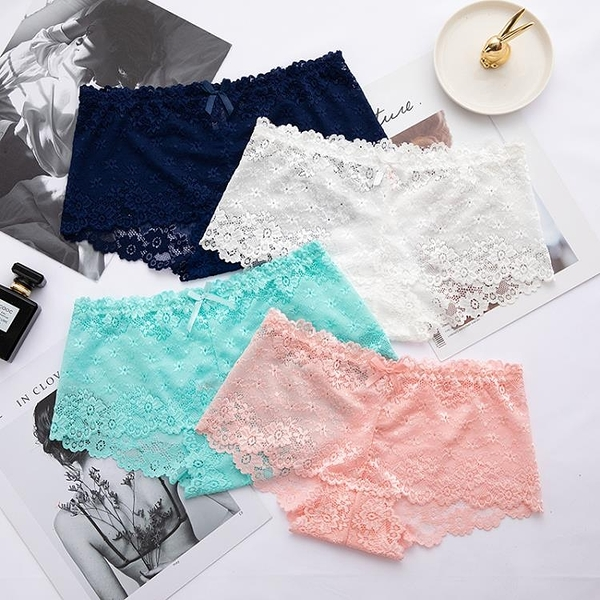 促銷 內褲女 純棉檔 透明誘惑蕾絲舒適面料透明無痕中腰女士內褲褲頭