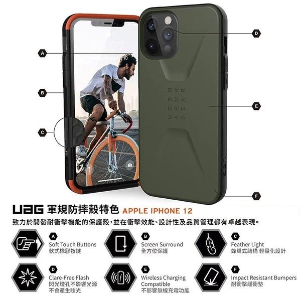 【台中愛拉風│UAG專賣店】iPhone12 防眩光、防刮傷 輕量化設計 蜂巢式結構設計 耐衝擊簡約保護殼