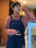 網紅條紋T恤女初秋新款chic學生復古寬松內搭高領長袖上衣ins 歌莉婭