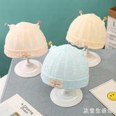 新生兒胎帽夏季薄款0-3個月嬰兒帽子春夏嬰幼兒棉初生男女寶寶帽 qz6493【歐爸生活館】