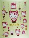 【震撼精品百貨】Hello Kitty 凱蒂貓~KITTY貼紙-耶誕紅
