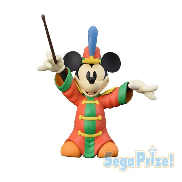 日本SEGA PLAZA 景品 米奇90th演奏家造型公仔23*18cm_ SE30546