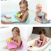 寶寶嬰兒沐浴椅凳幼兒座椅學坐兒童防滑椅浴盆洗澡浴缸座椅帶餐盤 igo 范思蓮恩