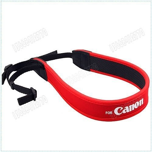 攝彩@CANON 佳能 數位相機專用減壓背帶【防滑設計,寬版加厚設計】單眼相機肩帶(佳能紅色背帶)