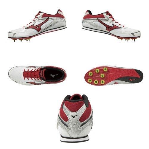 (送贈品) (A4) MIZUNO 美津濃 男款 BRAVE WING 3 田徑釘鞋 - U1GA183062 紅/白/銀/黑 [陽光樂活]