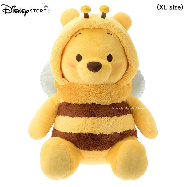日本限定 Disney Store 小熊維尼 蜜蜂版 BEE Color of Pooh 超大 絨毛玩偶  ( XL 72cm )