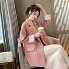 西裝外套 粉色小西裝外套女2021春秋新...