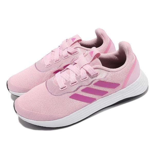 adidas 慢跑鞋 QT Racer Sport 粉紅 白 愛迪達 三條線 女鞋 【ACS】 FY5676