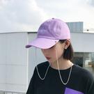 ins原宿潮流淺紫色帽子女夏天學生韓版街頭鴨舌帽嘻哈個性棒球帽 熊熊物語