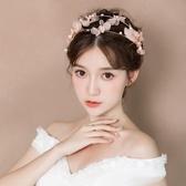 婚紗名店指定款新品新娘造型頭飾花朵手工髮箍日韓森系甜美髮飾仙美婚紗結婚飾品小c推薦