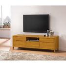 【森可家居】米堤柚木色5尺電視櫃 7ZX377-6 長櫃木紋質感 日系 無印風 美式鄉村