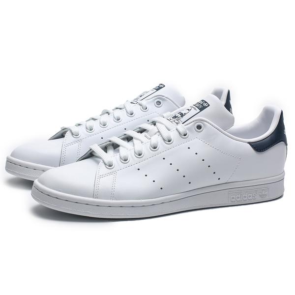 ADIDAS 休閒鞋 STAN SMITH 白 深藍 皮革 復古 板鞋 男女(布魯克林) M20325