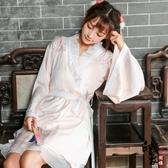 民族風繡花改良漢服睡衣大袖開衫外披吊帶裙套僅外披女