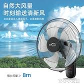 壁扇掛壁式靜音壁掛式遙控電風扇家用墻壁強力工業搖頭掛扇電扇大YYP 育心館