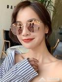 墨鏡女韓版潮復古gm網紅明星款新款太陽眼鏡街拍防紫外線圓臉 三角衣櫃 三角衣櫃