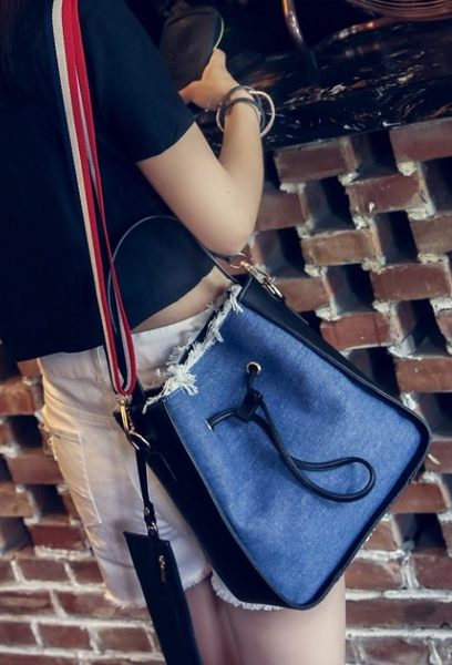 熱銷歐美 Denim 牛仔布包 牛仔褲 文創牛仔設計  旅行 學生 肩背包 女肩背斜背包 手提包