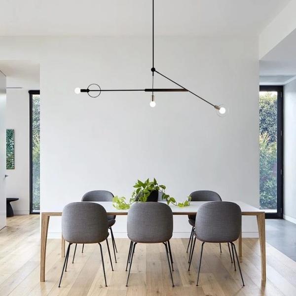 后現代創意五金餐廳燈極簡藝術臥室書房設計師樣板房