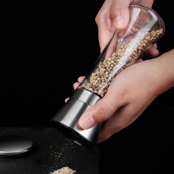 304不鏽鋼 胡椒研磨罐 玫瑰鹽 調味料手動研磨器 玻璃研磨瓶 調味罐 胡椒罐 調味瓶 『無名』 P01124