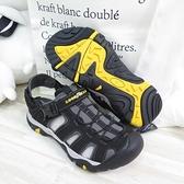 GOODYEAR 固特異 GA護指涼鞋 可拆式後帶 磁扣設計 止滑 GAMS13760 男款 黑【iSport愛運動】
