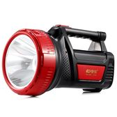 (交換禮物)康銘led手電筒強光充電超亮多功能戶外可手提探照燈照明電筒家用