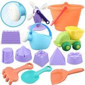 黑五好物節 兒童沙灘玩具套裝 寶寶挖沙戲水組合軟膠仿真造型鏟子玩雪 森活雜貨
