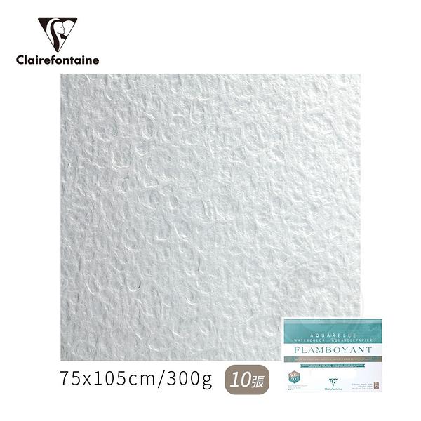 『ART小舖』Clairefontaine 法國CF FLAMBOYANT創意粗紋水彩紙 300g 75x105cm 10張(包) #975062