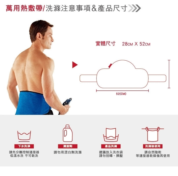 ◤A級福利出清品‧限量搶購中◢美國Sunbeam 萬用熱敷帶(藍色)
