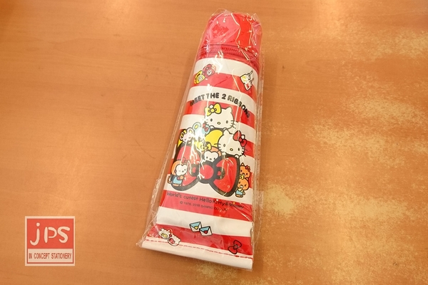 Hello Kitty 凱蒂貓 牙膏型筆袋 紅條紋 970501