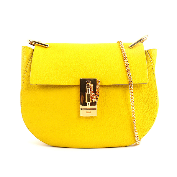 【CHLOE】山羊金鍊 drew bag (檸檬黃色NEON YELLOW) 3S1031 944 BFA