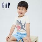 Gap男幼童 布萊納系列 趣味動物印花純棉T恤 701448-白色
