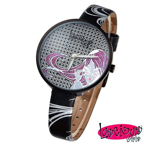 【Luscious Girls】米蘭之星晶鑽女錶-黑