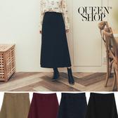 Queen Shop【03020610】基本百搭素色針織長裙 四色售*現+預*