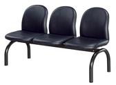 【IS 空間美學】圓管黑皮排椅2 人座三款尺寸可選