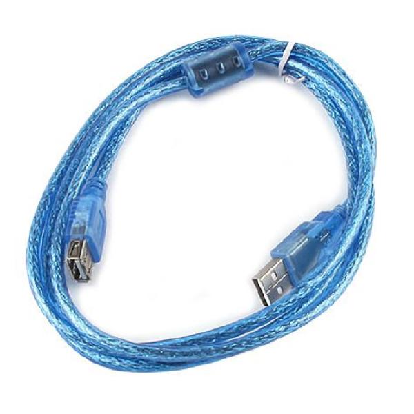 USB  2.0 延長線 傳輸線 公頭 母頭 150cm 藍色 銅芯(12-635)