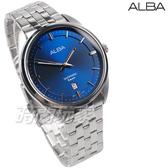ALBA雅柏錶 都會城市風格 日期顯示窗 防水 藍寶石水晶玻璃 不銹鋼 藍色 男錶 AS9L11X1 VJ42-X303B