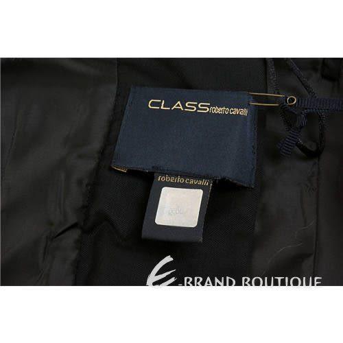CLASS roberto cavalli 黑色馬甲造型百褶裙洋裝 0940246-01