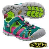 Keen Seacamp II CNX 兒童護趾 水陸兩用鞋 深綠/螢光綠 1014473