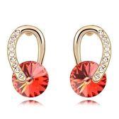 水晶耳環 925純銀(耳針式)-鑲鑽別緻生日情人節禮物女飾品3色73bd50[時尚巴黎]