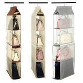 收納掛袋出口包包衣柜櫥懸掛式整理袋多層布藝防塵儲物架xx7609【每日三C】
