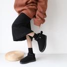 雪地靴雪地靴女新款時尚可愛日系短筒棉鞋冬加絨一腳蹬保暖面包鞋潮 曼慕衣櫃