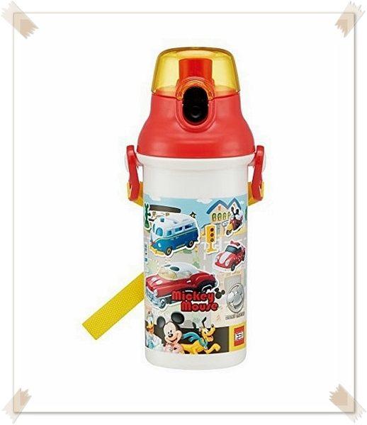 日本製 迪士尼 米奇樂園 直飲水壺彈蓋式水壺 480ml 304668 特價出清 恕不退換